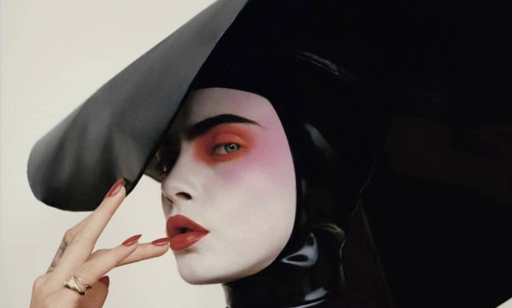 Cara Delevingne Wears Dead Lotus Couture